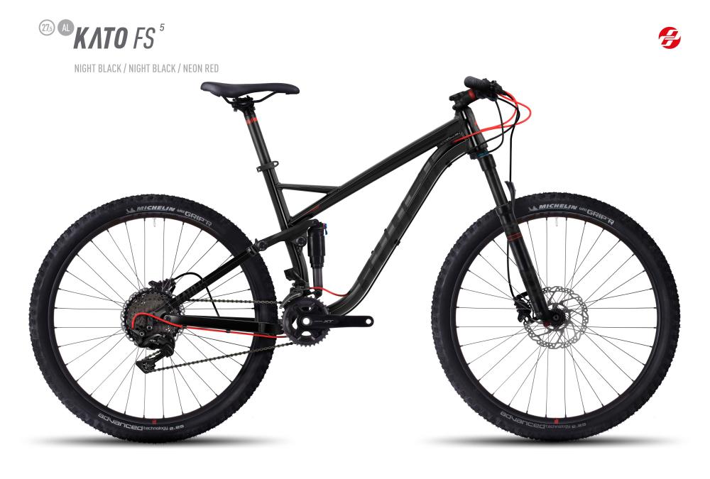 GHOST KATO FS 5 AL 27,5 U BLK/BLK/NE-RED L - Bikedreams & Dustbikes