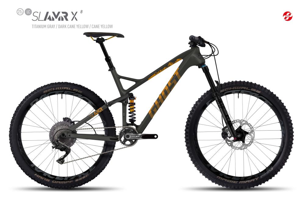 GHOST SLAMR X 8 LC 27,5 U TI-GRY/DA-YLW/CA-YLW L - Bikedreams & Dustbikes