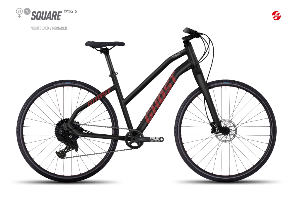 GHOST SQUARE CROSS 5 AL 28 W BLK/MO-ORNG/UR-GRY XS - Bikedreams & Dustbikes