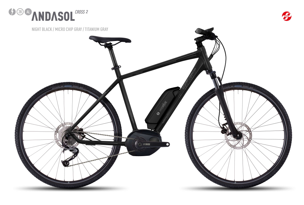 GHOST HYB ANDASOL CROSS  2 AL 28 U BLK/MC-GRY/TI-GRY S - Bikedreams & Dustbikes