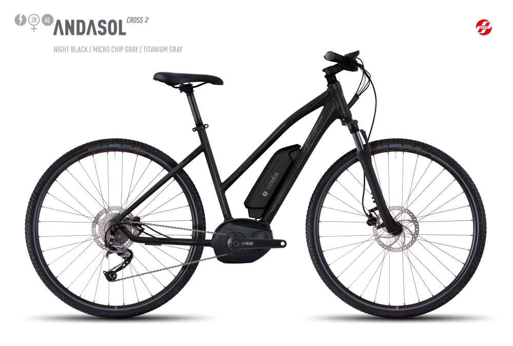 GHOST HYB ANDASOL CROSS 2 AL 28 W BLK/MC-GRY/TI-GRY M - Bikedreams & Dustbikes