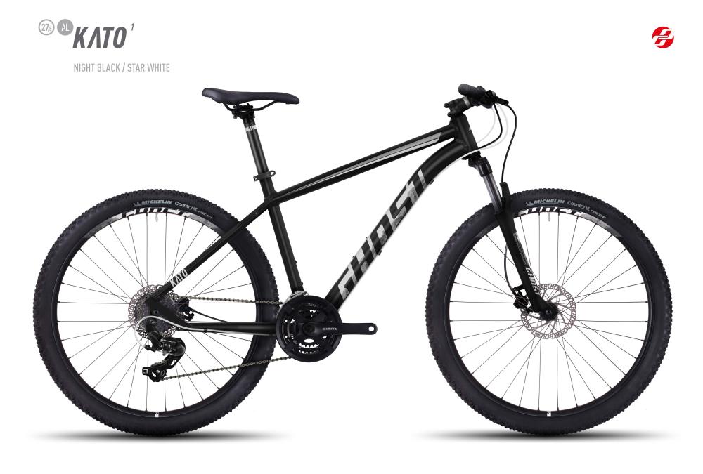 GHOST KATO 1 AL 27,5 U BLK/ST-WHT XS - Bikedreams & Dustbikes