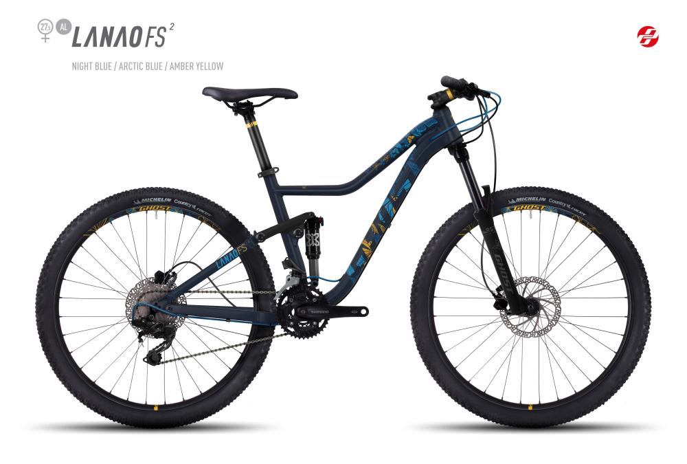 GHOST LANAO FS 2 AL 27,5 W NI-BLU/AR-BLU/AM-YLW XS - Bikedreams & Dustbikes