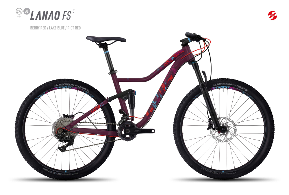 GHOST LANAO FS 5 AL 27,5 W BE-RED/LAKE/RI-RED M - Bikedreams & Dustbikes