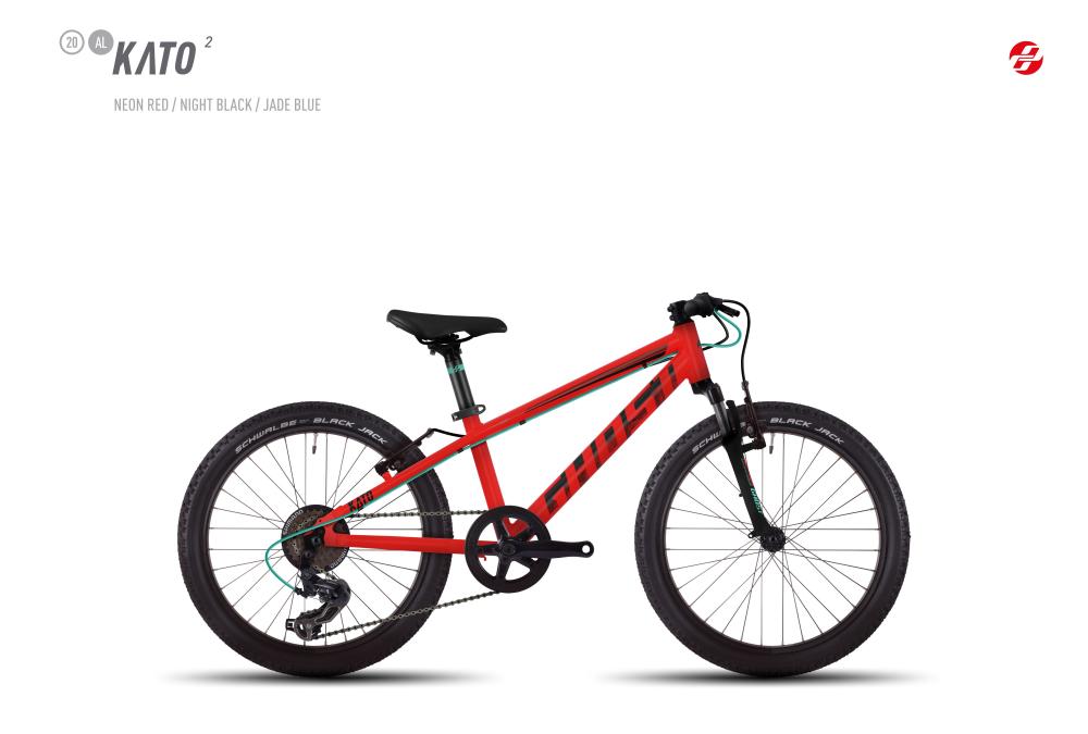 GHOST KATO 2 AL 20 K NE-RED/BLK/JA-BLU - Bikedreams & Dustbikes