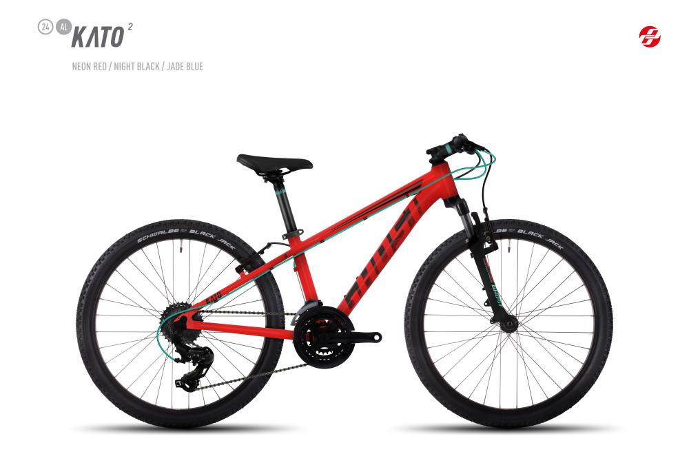 GHOST KATO 2 AL 24 K NE-RED/BLK/JA-BLU - Bikedreams & Dustbikes
