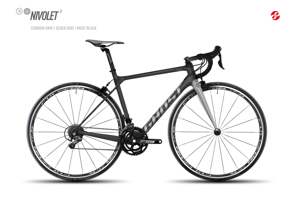 GHOST NIVOLET 2 LC 28 U TI-GRY/SI-GRY/BLK M - Bikedreams & Dustbikes