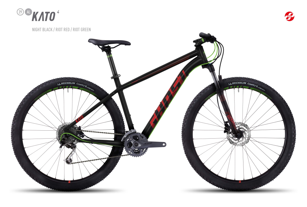 GHOST KATO 4 AL 29 U BLK/RI-RED/RI-GRN XL - Bikedreams & Dustbikes